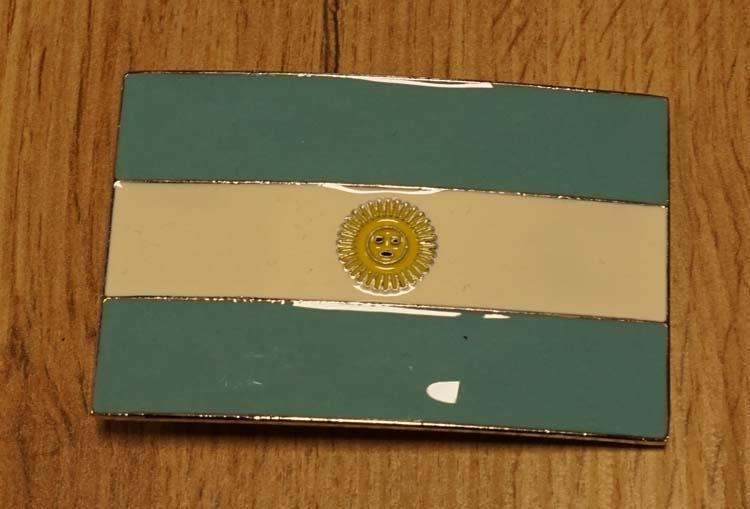 """Buckle """" Flagge von Argentinië """""""