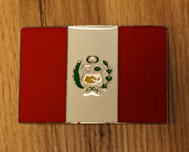 """Buckle """" Flagge von Peru """""""