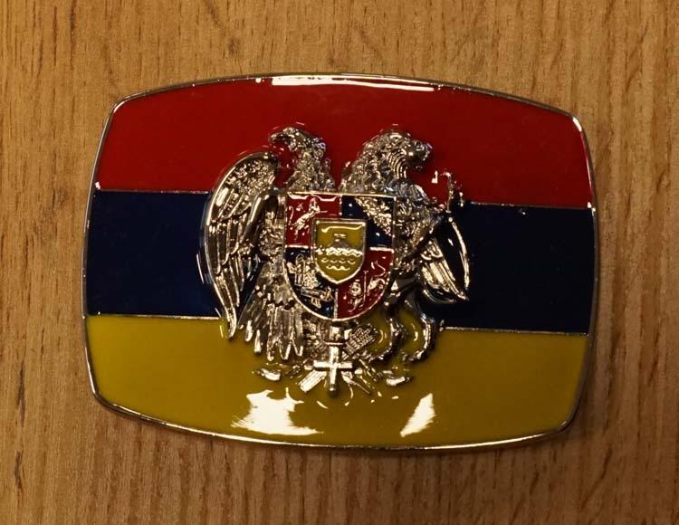"""Buckle """" Flagge von Roemenië """""""