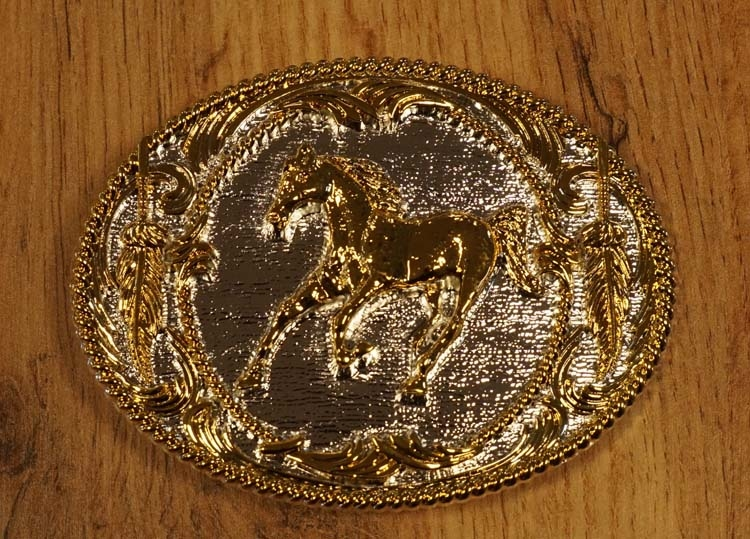 """Buckle """" Laufendes Pferd  """"  Silber / gold farbe"""