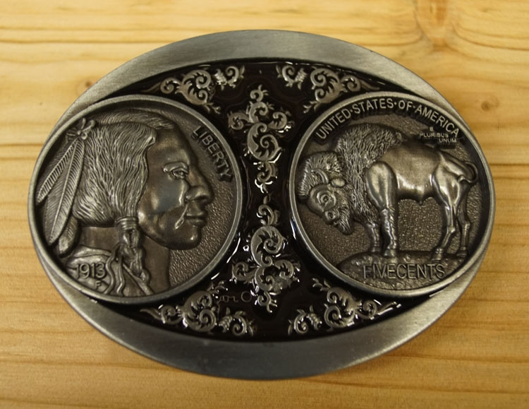 "Buckle "" Münze five Cents Indianerkopf, Bison """