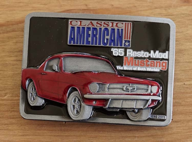 "Classic American buckle  "" 65 Resto-Mod Mustang """