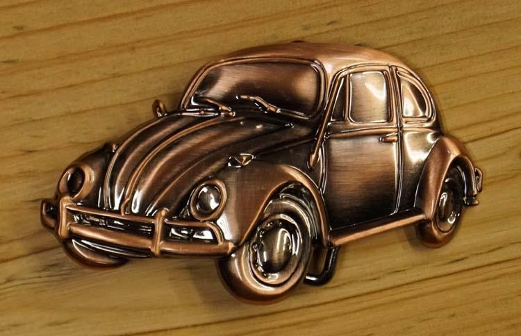 """Collection item Schnalle """" Volkswagen Käfer """"  Kupferfarben"""