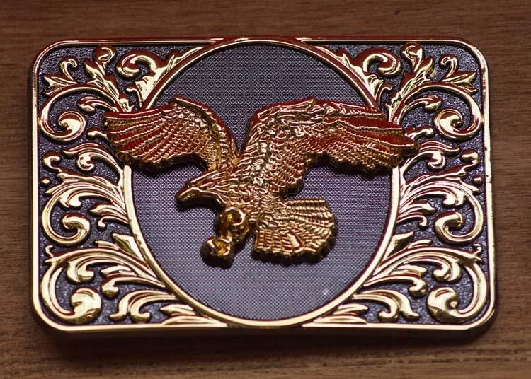 "Dekorative Schnalle  "" Flying Eagle ""  Schwarz / Gold Farbe"
