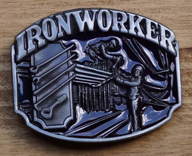 """Dekorative Schnalle  """" Iron worker """"  ( Eisenarbeiter )"""
