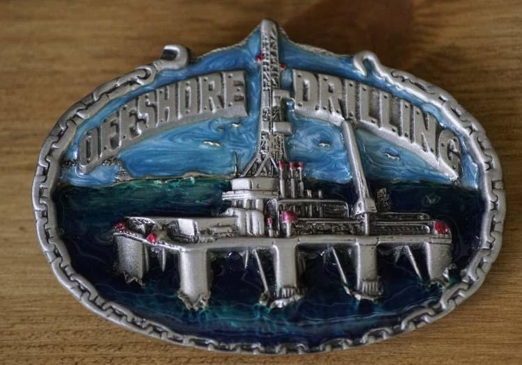 "Dekorative Schnalle  "" Offshore Drilling """