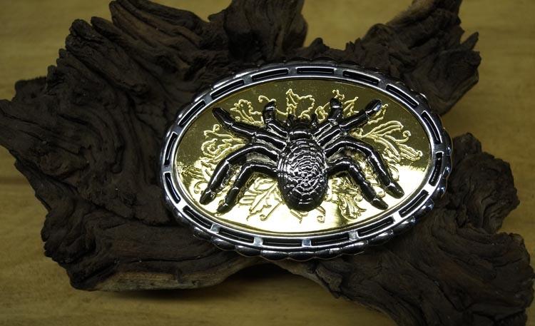 """Dekorative Schnalle  """" Spinne """"  Silber / Gold farbe"""