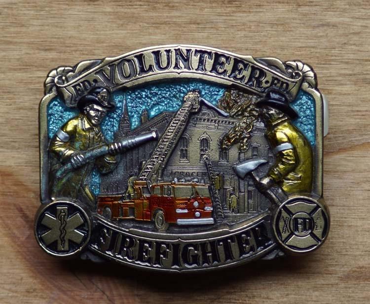 """Dekorative Schnalle  """" Volunteer Firefighter """""""