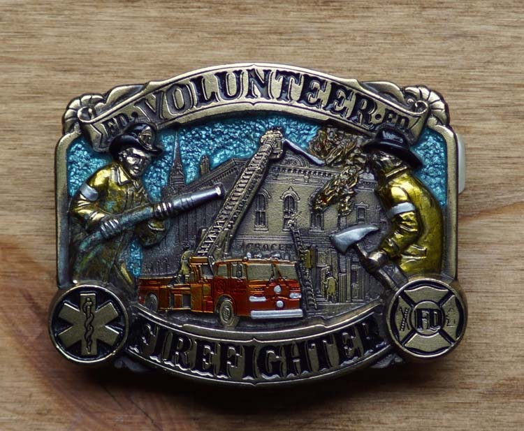"Dekorative Schnalle  "" Volunteer Firefighter """