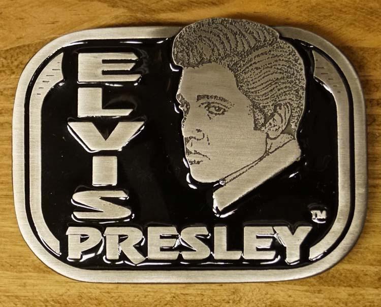 "Elvis buckle  "" Elvis Presley ""  Zwart"