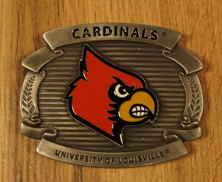 "Football buckle "" Cardinals University of louisville """