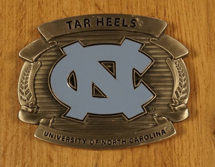 "Football buckle "" Tar heels University of North Carolina """
