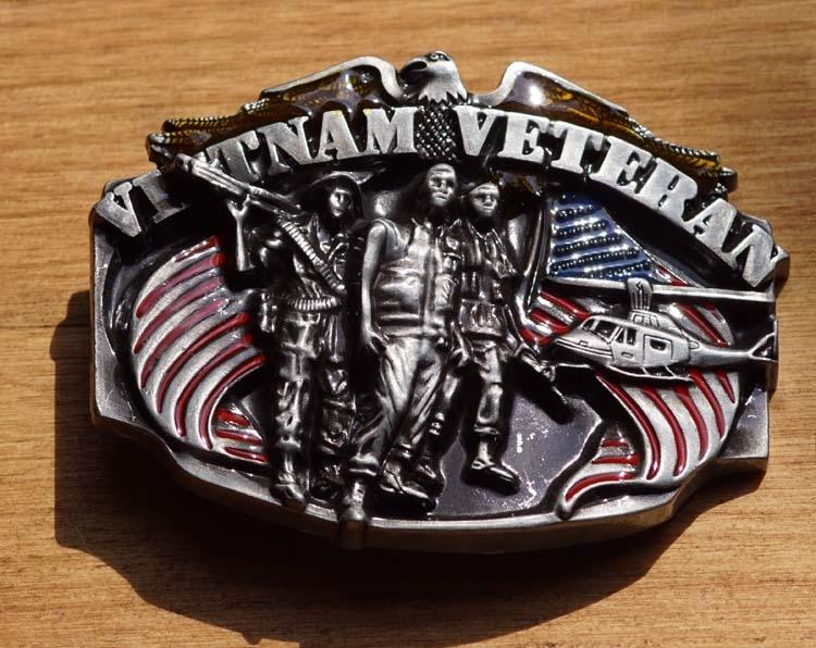 "Gürtelschnalle  ""  Vietnam veteran """
