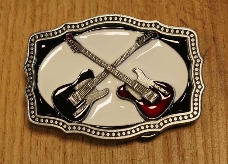 """Gürtelschnalle  """" 2 Gitarren """""""