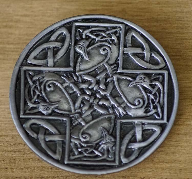 "Gürtelschnalle  "" Abstract Celtic Bird """