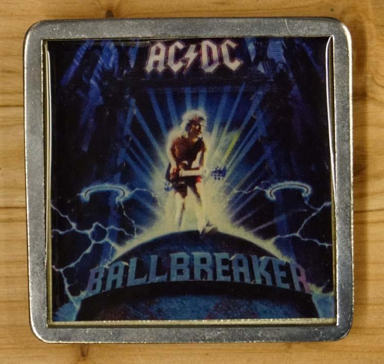 """Gürtelschnalle  """" AC / DC """"    Ballbreaker"""