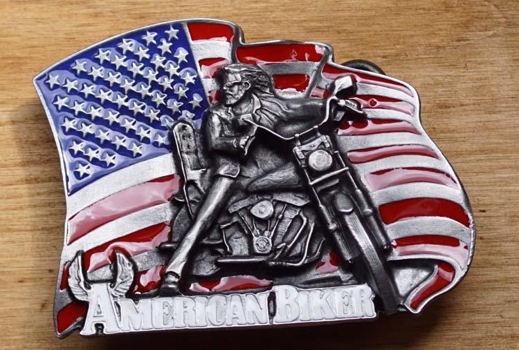 "Gürtelschnalle  "" American Biker """
