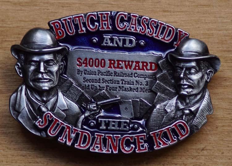 """Gürtelschnalle  """" Butch Cassidy and Sundace Kid """""""