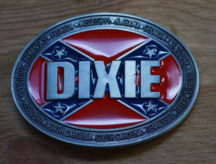 """Gürtelschnalle  """" Dixie, rebel Flagg """""""