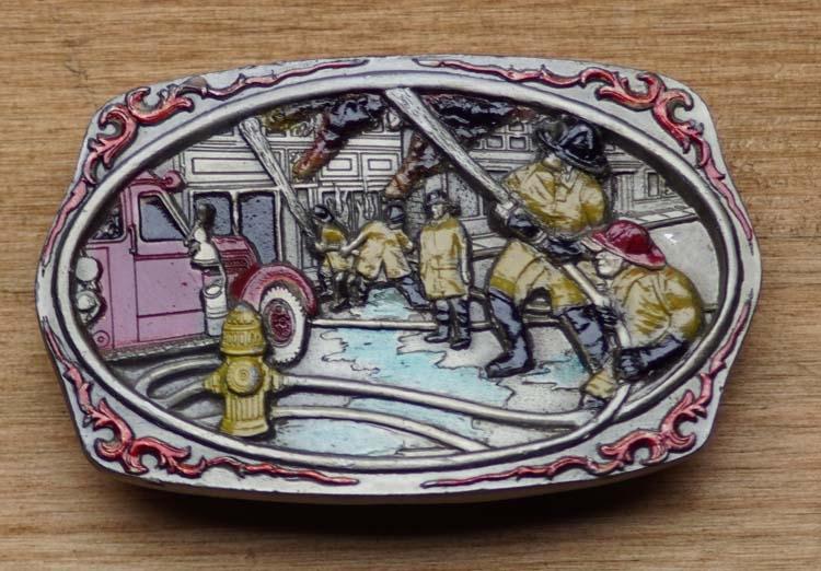 """Gürtelschnalle  """" Feuerwehr """"  ( Feuerwehrmann )"""