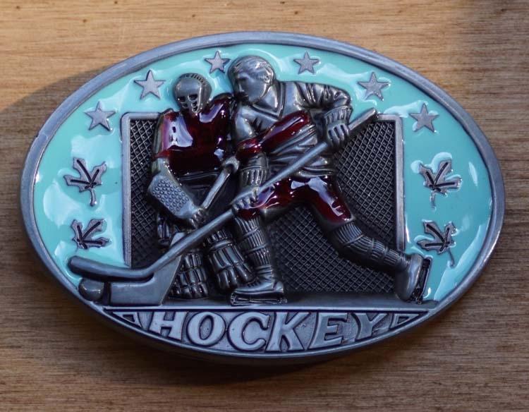 """Gürtelschnalle  """" Hockey """""""