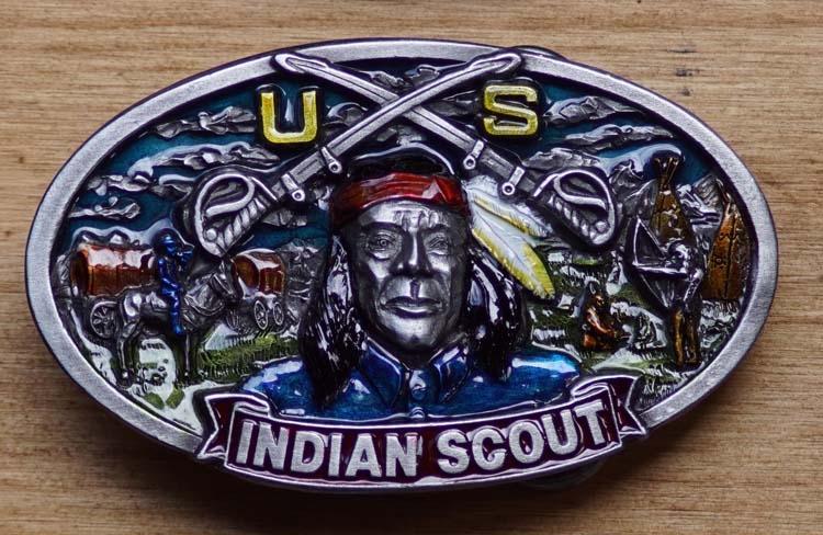 """Gürtelschnalle  """" Indianische Army Scout """"  AUSVERKAUFT"""