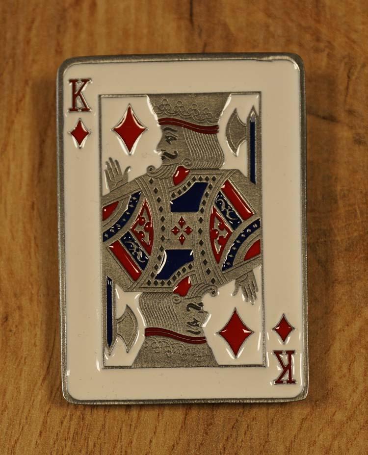 """Gürtelschnalle  """" Karte der Diamanten König """""""