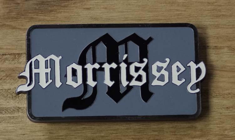 """Gürtelschnalle  """" Morrissey """""""