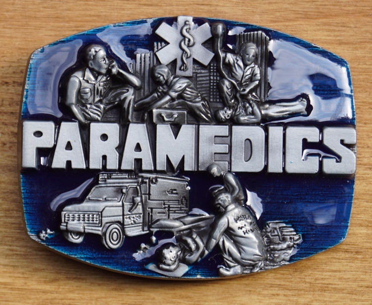 "Gürtelschnalle  "" Paramedics ""  ( Krankenwagen Bruder )"