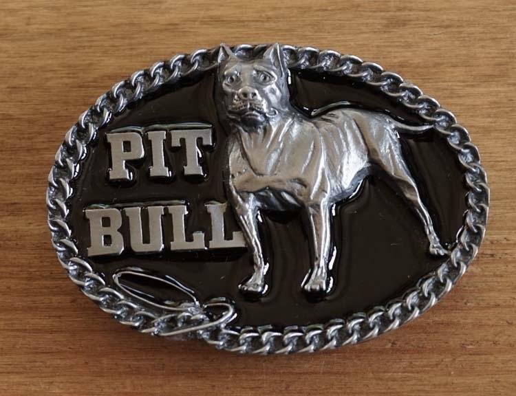 """Gürtelschnalle  """" Pit bull """""""