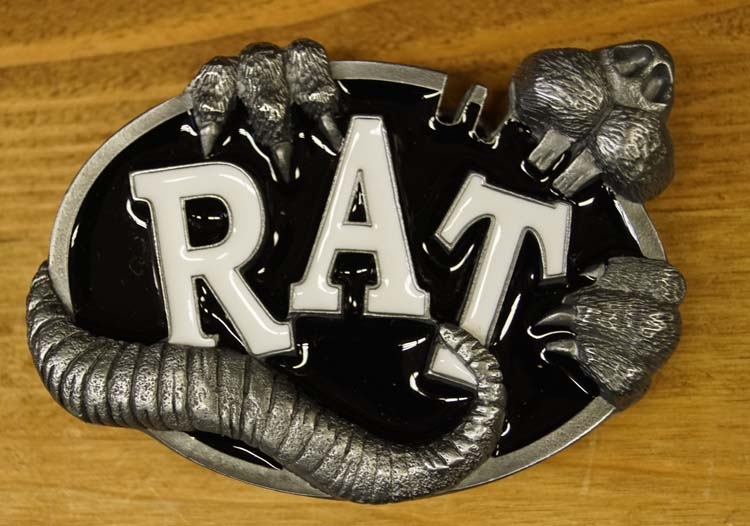 "Gürtelschnalle  "" Ratte """