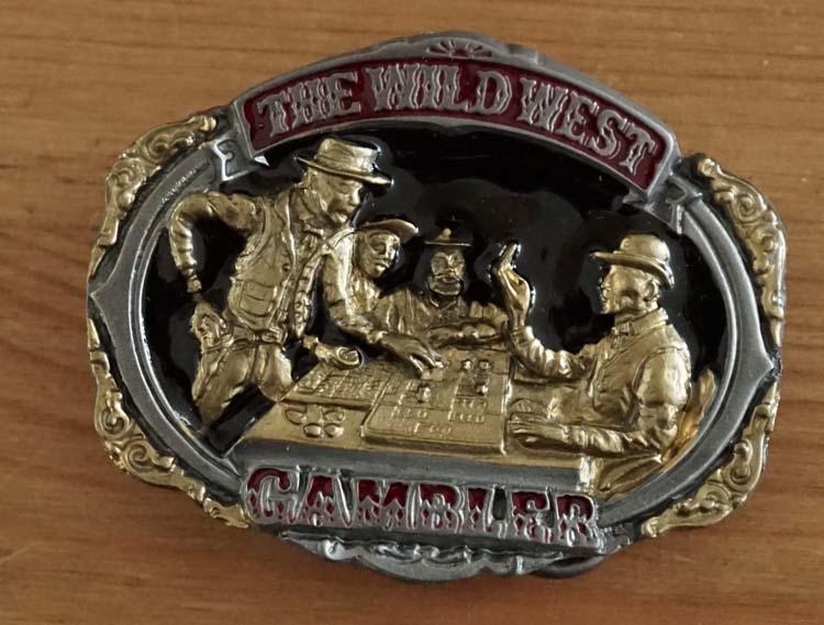 """Gürtelschnalle  """" The wild west gambler """""""