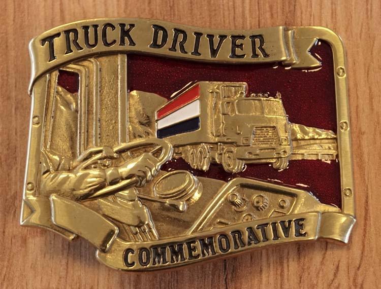 "Gürtelschnalle  "" Trucker driver """