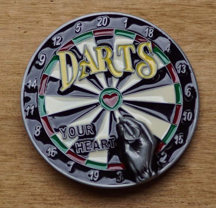 """Gürtelschnalle """" Darts """""""