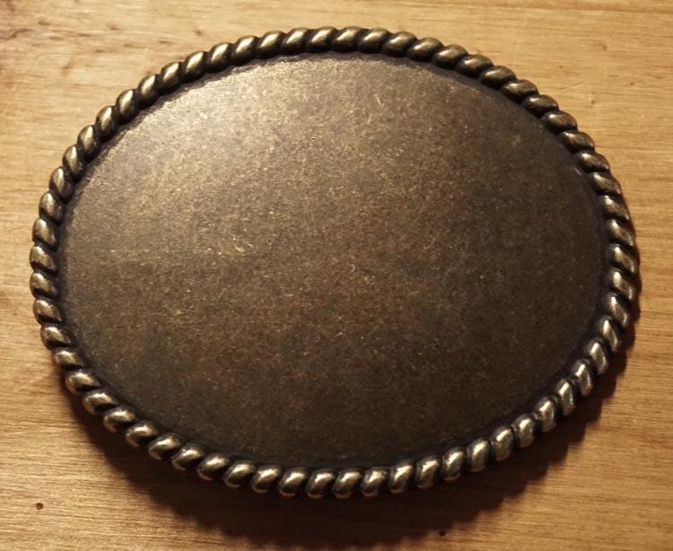 """Gürtelschnallen """" Oval mit seilrand """"  Kupferfarben"""