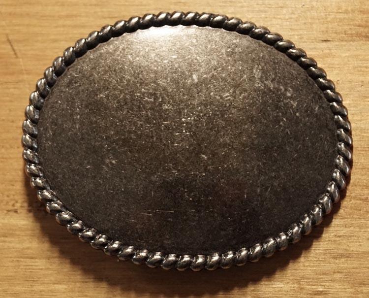 """Gürtelschnallen """" Oval mit seilrand """"  Nickel Farbe"""