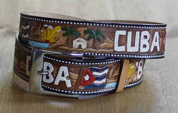 "Leder Wechselgürtel  ""  Cuba """