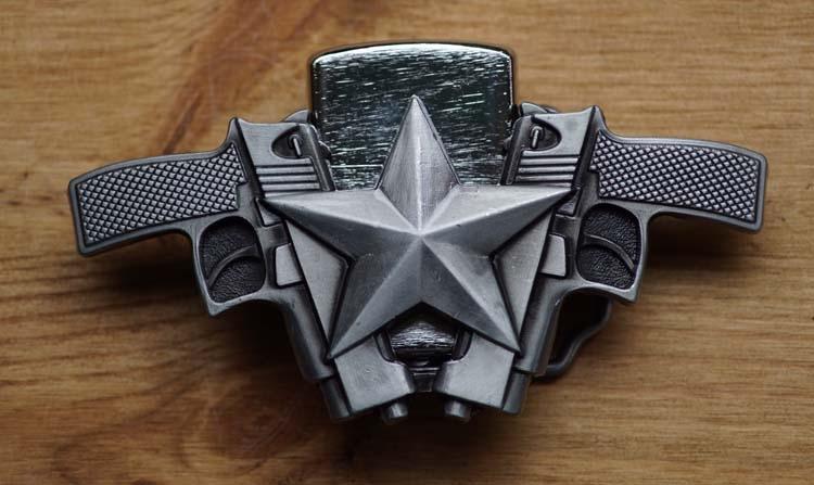 """Leichtere buckle """"Zwei Pistolen mit Texas stern"""""""