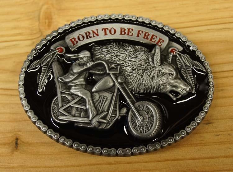 "Motor buckle  "" Born to be free ""   AUSVERKAUFT"