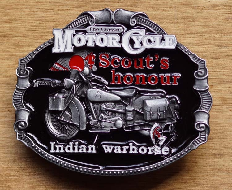 """Motor cylce buckle  """" Scout's hounour Indian """""""