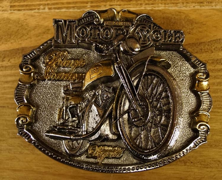"""Motor cylce buckle """" Black Shadour """" Silber/gold farbig"""