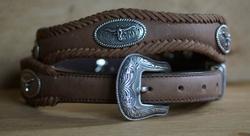 Sterling Silber Western Ledergürtel
