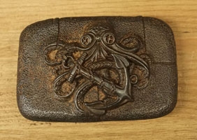 Old copper Gürtelschnallen